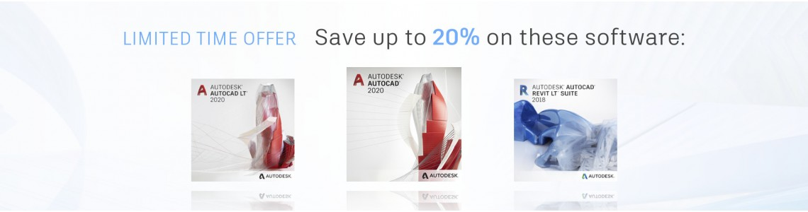 Save up to 20% on AutoCAD software!